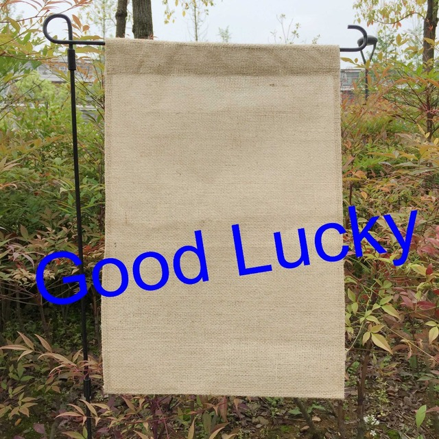 Us 30 0 10pcs Lot Free Shipping Blank Burlap Garden Flag Diy Monogrammed Yard Flag Personalized Garden Flag For Decoration In Flags Banners