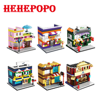 2018 New Arrival 145pcs Six Designs For Choose Mini City Street View Series Of Construction Assembled