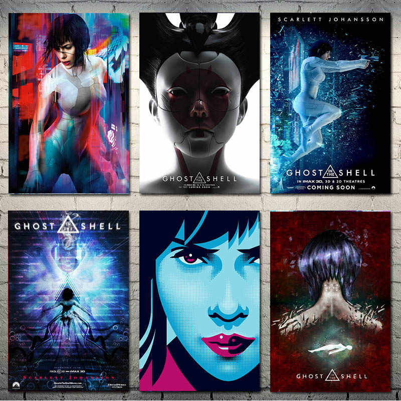 Ghost In The Shell Hot Movie Art Silk Canvas Poster 13x20 24x36inch Picture For Living Room Wall Decoration Aliexpress