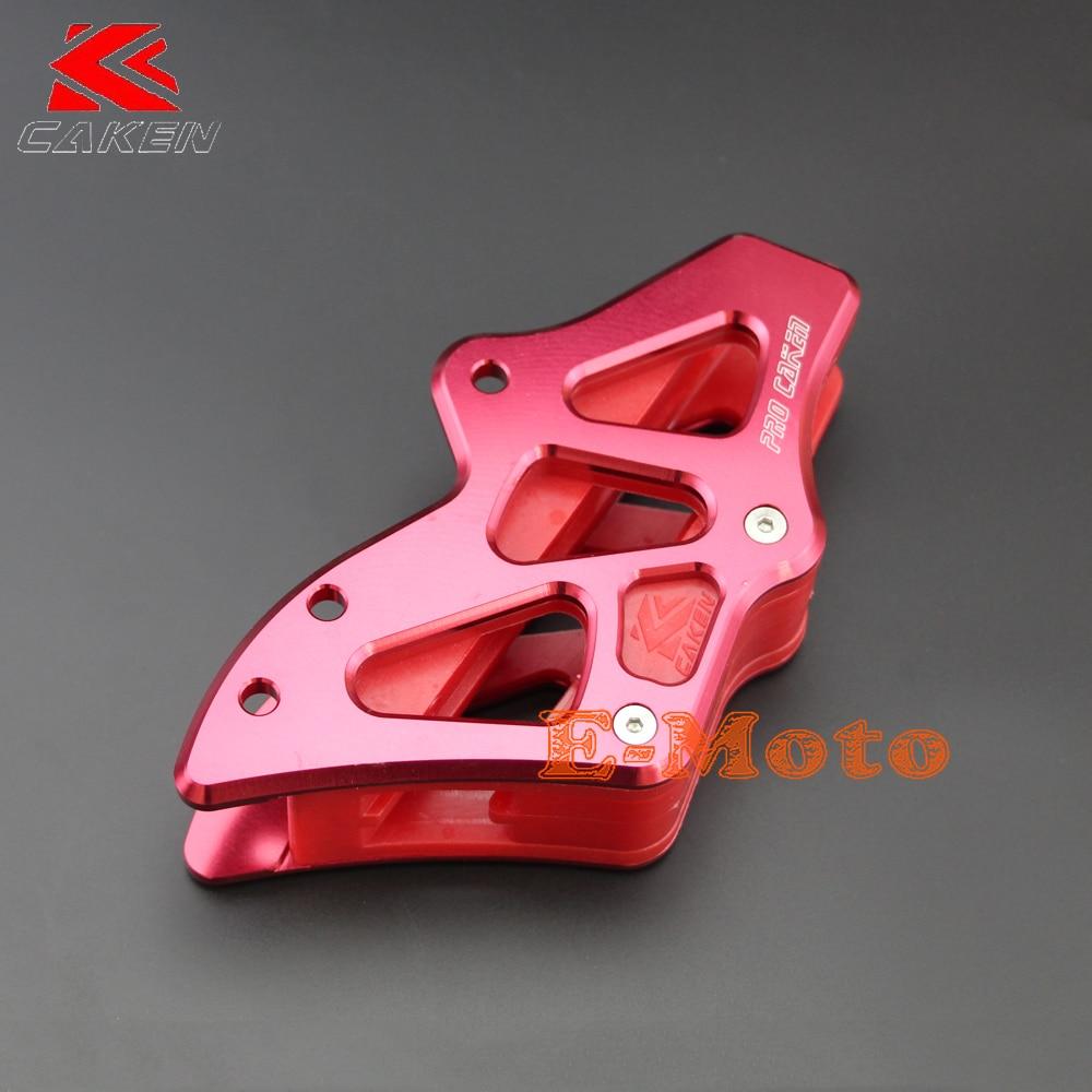 Pro Caken rouge CNC billette Aluminium arrière chaîne Guide garde CRF250R CRF450R 2005-2006 e-moto