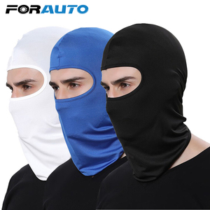Image 1 - FORAUTO COM מלא פנים מסכת מגן חיצוני ספורט כיסויי ראש פה כיסוי חיצוני אופני סקי לנשימה אבק הוכחה Windproof מסכה