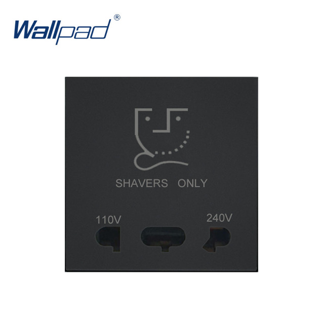 Wallpad Luxury Shaver Socket Outlet Function Key For Wall White And Black Plastic Module Only