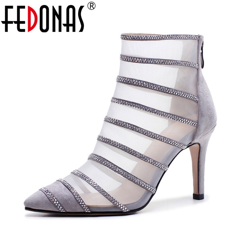FEDONAS 2018 Newest Women Spring Summer Genuine Leather Shoes Woman High Heels Glitters Wedding Party Shoes Females Brand Pumps siketu 2017 free shipping spring and autumn women shoes fashion sex high heels shoes red wedding shoes pumps g107