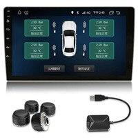 USB Auto Bandenspanning Systeem TPMS voor Auto DVD Radio display de tempreature en druk met hoge graden nauwkeurigheid