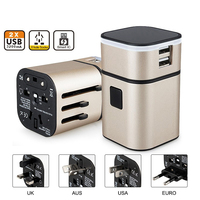 Perfect Travel Adapter Separable usb Charging Portable Power Socket Worldwide Use for US/UK/EU/AU International Travel Converter