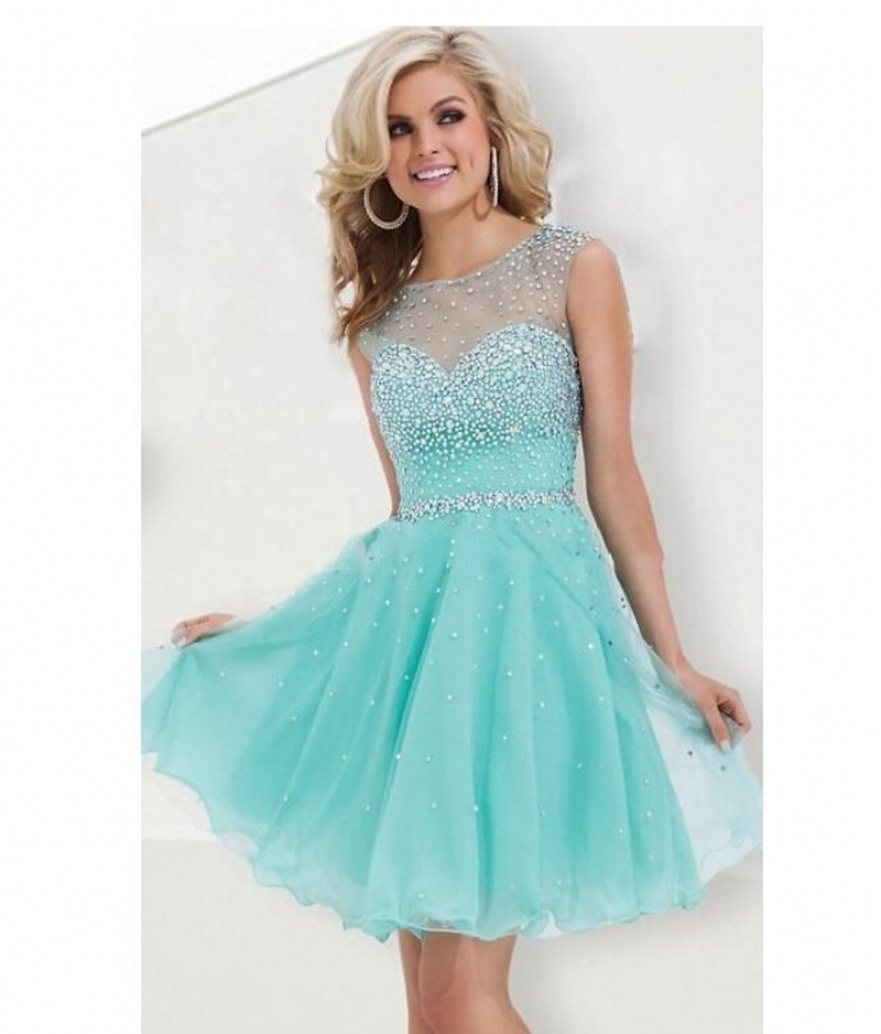 b5012e92346 Short Homecoming Dress Turquoise A line Beaded Sparkly 2016 Sweet 16 Semi  Formal Short Prom Cocktail Dress Gown-in Homecoming Dresses from Weddings    Events ...
