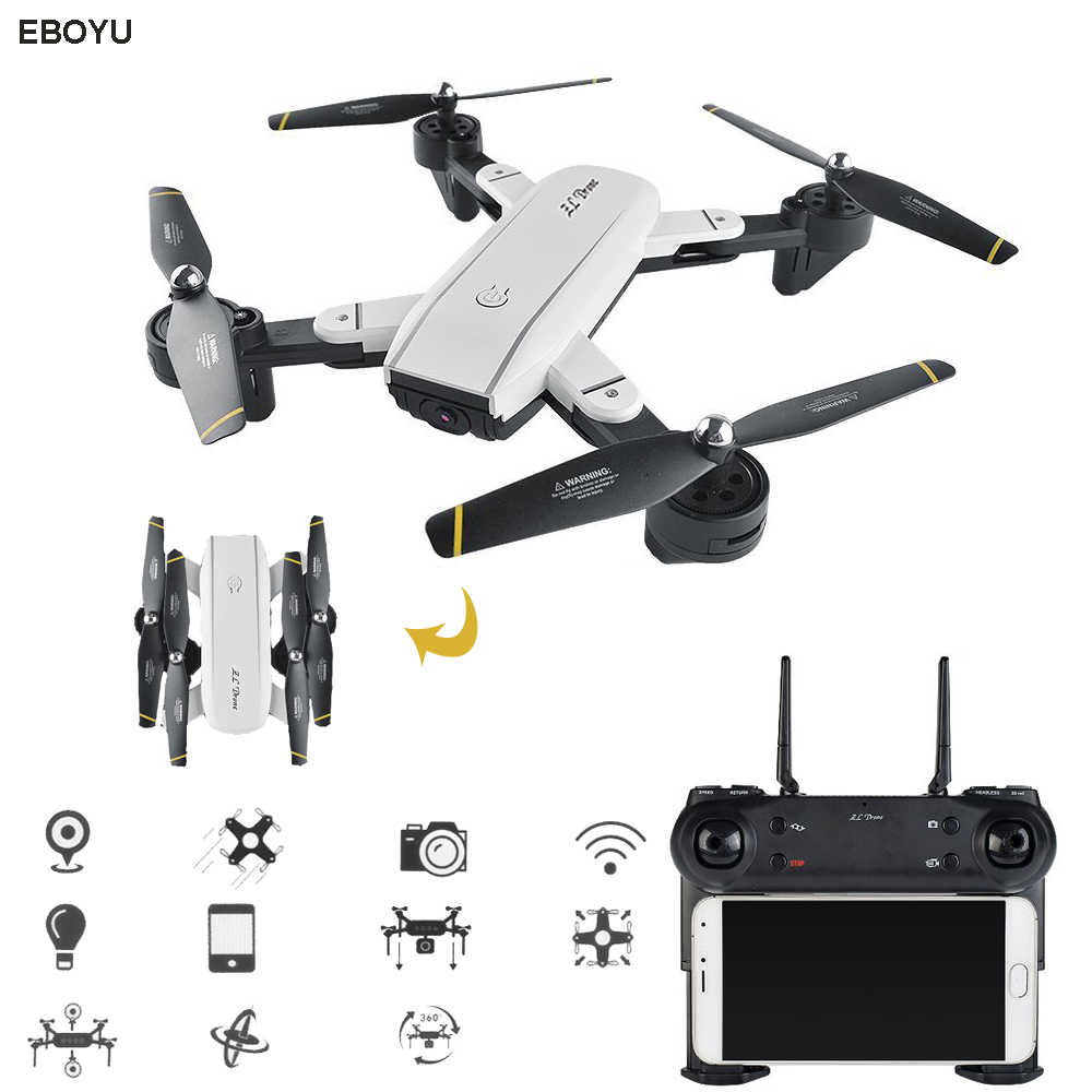 EBOYU SG700 0.3MP/2.0MP HD Camera Wifi FPV Opvouwbare 6-Assige Gyro Optische Stroom Positionering Hoogte Houden Headless RC Quadcopter