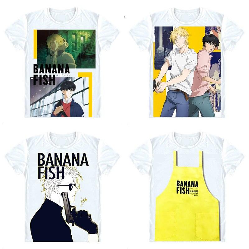 BANANA FISH T-Shirts Short Sleeve Shirts Anime Manga Ash Lynx Eiji Okumura Shunichi Ibe Max Lobo Frederick Arthur Cosplay Shirt
