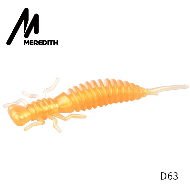 Мягкие приманки MEREDITH Larva, 50 мм, 62 мм, 85 мм, искусственные приманки, силиконовая приманка для ловли червя, приманка для ловли щуки, гольян, плавающая приманка, пластиковые приманки - Цвет: D63