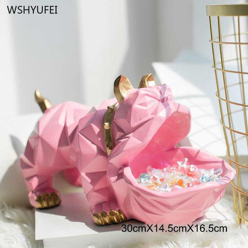 Direct marketing geometric animal creative bulldog ornaments storage box big mouth dog furnishings living room decorations