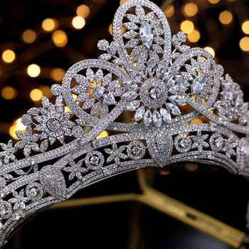 Gorgeous Bridal Crown Zircon Wedding Tiaras Crystal Princess Crowns Wedding Hair Accessories coroa de noiva