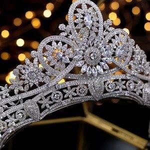 Image 3 - Splendido Da Sposa Corona Zircone Diademi di Cerimonia Nuziale di Cristallo Della Principessa Corone Wedding Accessori Per Capelli coroa de noiva