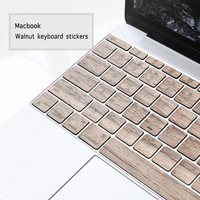 Wooden 11 13 Inch Notebook Wireless Keyboard Covers Keyboard Stickers For Macbook