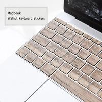 Wooden 11 13 Inch Notebook Wireless Keyboard Covers Keyboard Stickers For Macbook