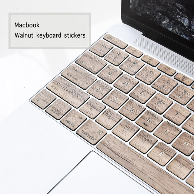 pretty nice 2715e 293c8 US $39.9 |Wooden 11/13 inch notebook wireless keyboard covers Walnut  keyboard stickers for macbook-in Keyboard Covers from Computer & Office on  ...