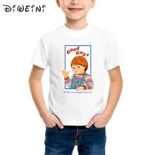 цена на Chucky Kids T-Shirt Childs Play Good Guys Kids Clothes Girl Baby Boy Fashion Print tshirt Chucky Baseball TShirt printed Top tee