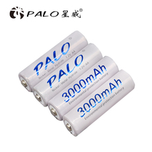 New Brand Palo battery lowself discharger card packing 4pcs 1.2V AA 3000mAh NIMH rechargeable