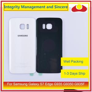 Image 3 - 50 unids/lote para Samsung Galaxy S7 Edge G935 G9350 G935F SM G935F carcasa batería puerta para parabrisas trasero funda carcasa chasis