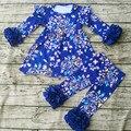 2017 Primavera boutique outfits páscoa conjunto roupa da menina crianças roupa roupas de bebê colorido remake outfit