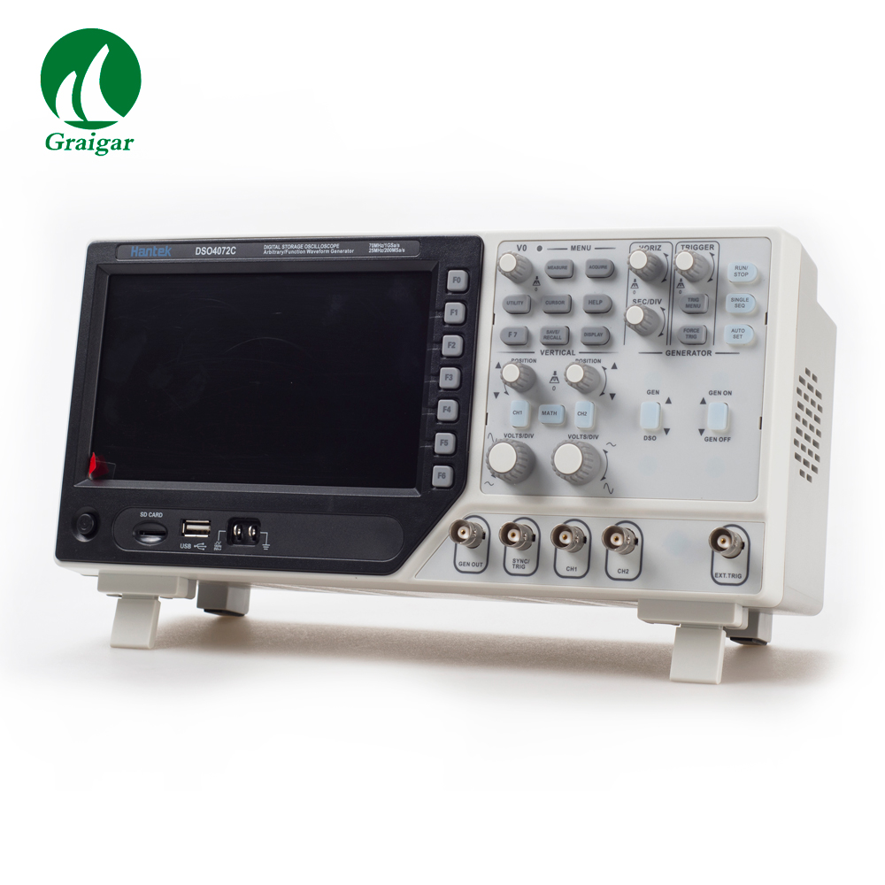 DSO4072C Hantek Osciloscopio 2 Channel <font><b>70MHz</b></font> Digital <font><b>Oscilloscope</b></font> with 1 Channel Arbitrary Function Waveform Generator image