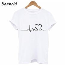 Soatlld, новинка, Харадзюку, с принтом Love, женские футболки, повседневные, летние, короткий рукав, женская футболка, женская одежда