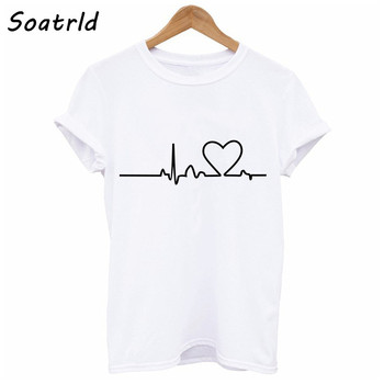 New Love Printed Casual T-shirts
