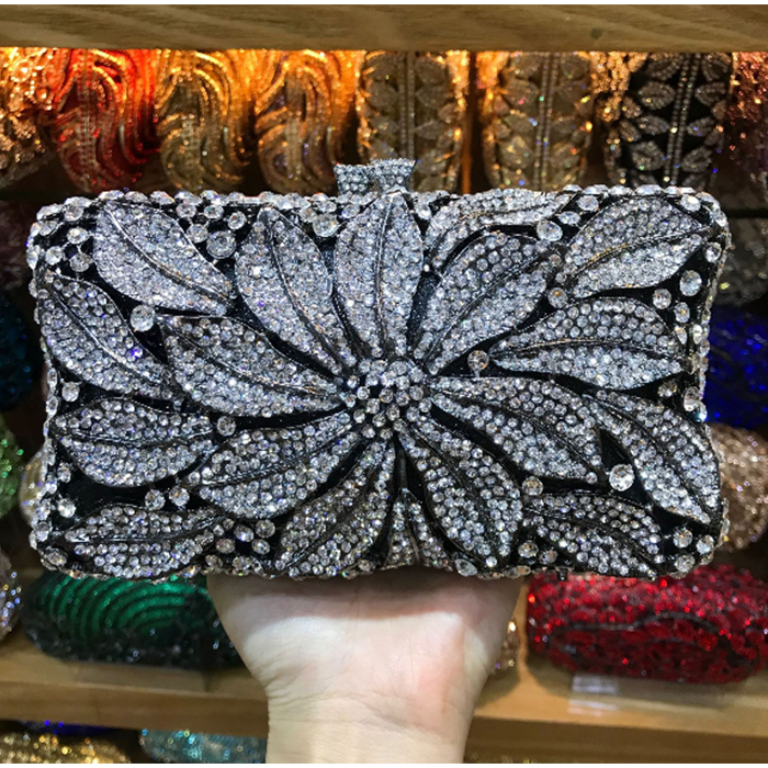 XIYUAN BRAND Silver gold purple Crystal Women Evening Bags Wedding Party Cocktail Handbags and Purses Bridal Rhinestone ClutchesXIYUAN BRAND Silver gold purple Crystal Women Evening Bags Wedding Party Cocktail Handbags and Purses Bridal Rhinestone Clutches