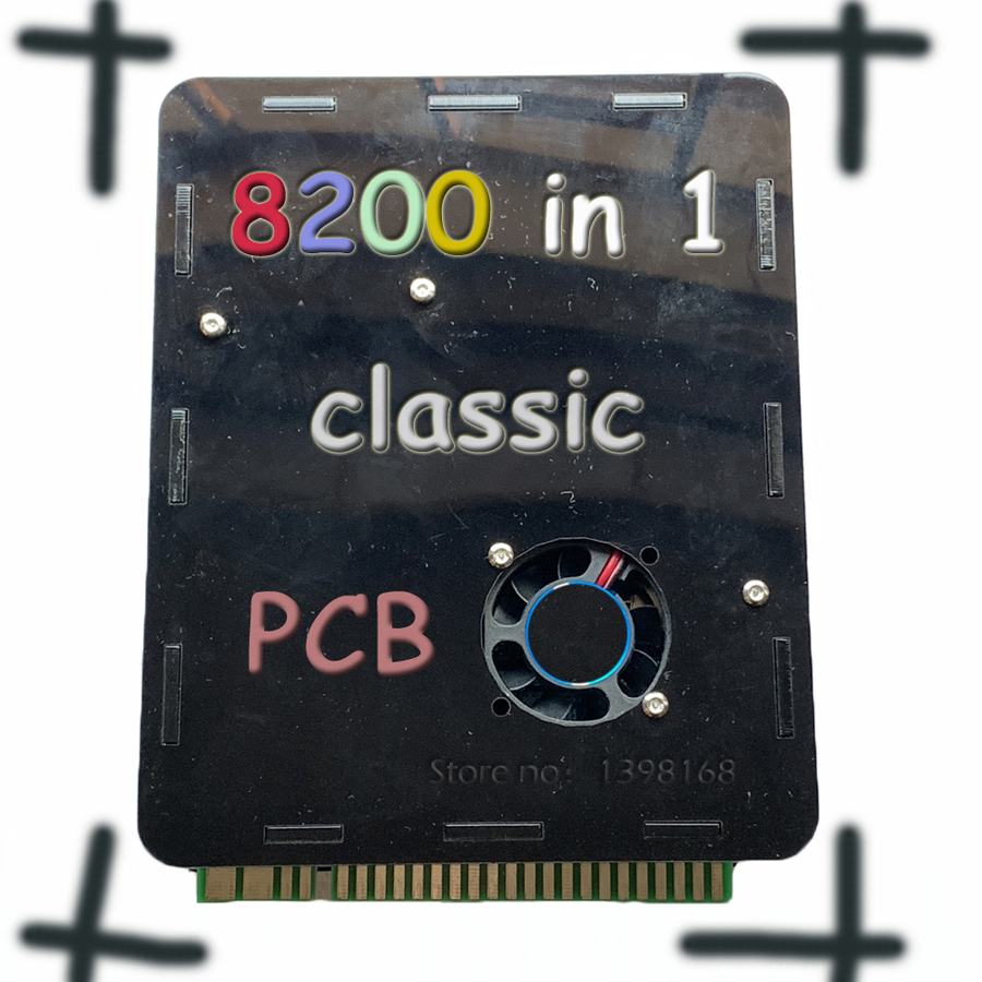 8200 GAMES Arcade multi game PCB RUN 27 3D GAMES jamma Arcade cabinet WITH VGA out
