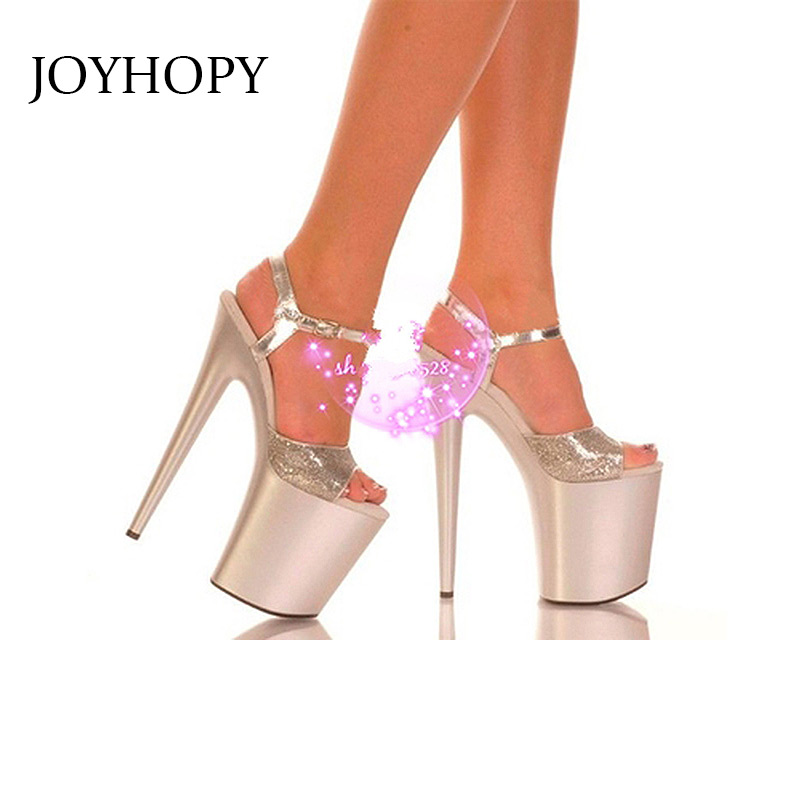 2019 New Summer Purple Dress Shoes Women Sexy 20CM High Heel Pumps Female Party Wedding Thin High Heel Peep Toe Sandals WS1764