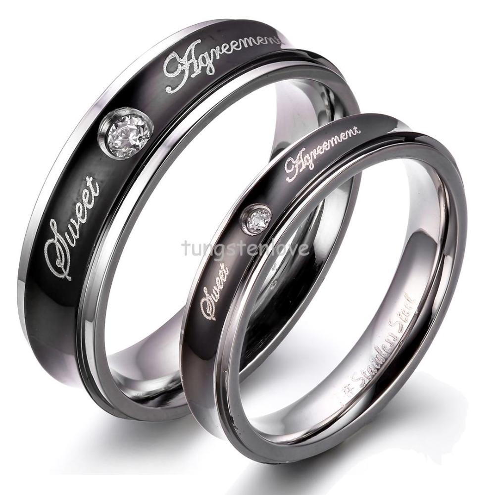 rose her couple products gardeniajewel gold rings black promise wedding couplerings titanium king his matching queen ring bands