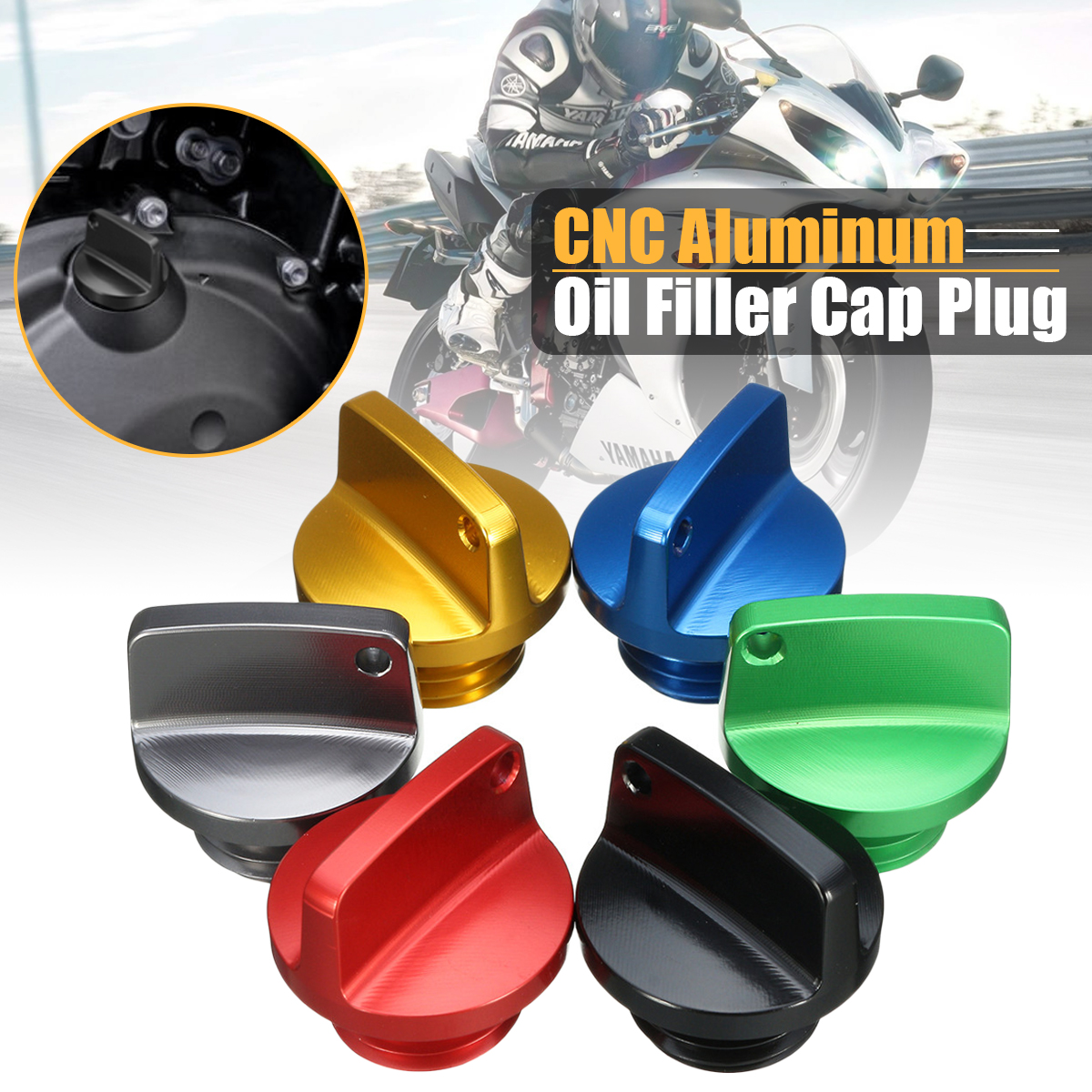 Universal CNC Engine Oil Filler Screw Cover Plug For Honda For Kawasaki Ninja For Honda Oil Filler Cap Motorcycle Crankcase Cap mugen power performance oil cap oil fuel filter racing engine tank cap cover for honda cap003