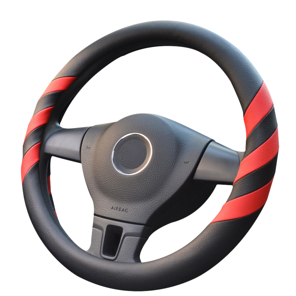 GLCC Covers Steering Wheel Sport Auto Steering Wheel Covers Anti-Slip Automotive Accessories Black with Red
