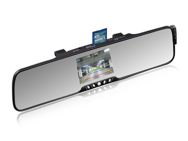 """3.5""""TFT handsfree car kit bluetooth rearview mirror with reverse camera +FM+MP3+phonebook"""