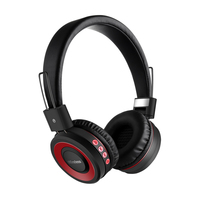 Adjustable Outdoor Headphone Bluetooth Wireless Headphones Bass Stereo Headset with Mic Smooth Surface for Music Phone&PC