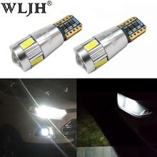 WLJH 2x автомобиля светодиодный T10 светодиодный W5W Авто Лампа 12 V лампочки объектив проектора для Renault Logan Megane 2 Duster Лагуна Clio 2 Koleos