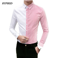 2018 Spring New Business Stripe Shirt Korean Fashion Slim Dress Mens Shirts Stylish Long Sleeve High Quality Luxury Mens Shirt