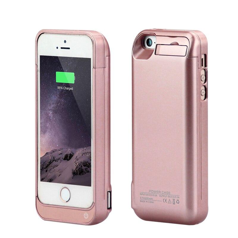 imágenes para GagaKing bancos de la Energía Externa paquete por caja Cargador de batería de reserva cubierta para el iphone 5 5c 5S SÍ cargador inalámbrico teléfono caso