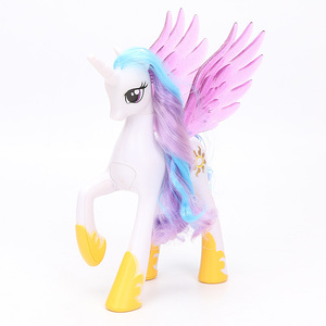 Image 4 - 22cm My Little Pony Toys Princess Celestia Glitter Luna Rainbow Dash Princess Cadance PVC Action Figures Collectible Model Dolls
