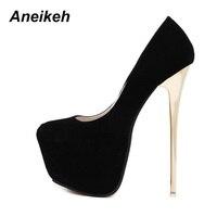 Aneikeh/пикантные туфли-лодочки больших размеров 41, 42, 43, 44, 45 свадебные женские туфли-Фетиш женские туфли-лодочки в сдержанном стиле туфли-лодоч...