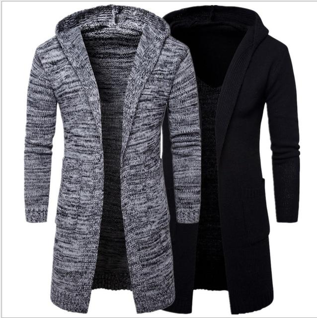 diseñado suéter con hombre Nueva hombres capucha larga Chaqueta para HqdExd