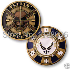 Wholesale and retail Low price High quality NEW Skull Challenge Coin  hl50183