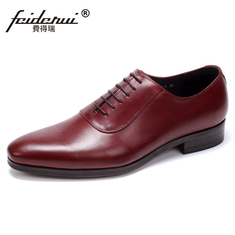 Top Quality Luxury Designer Brand Man Dress Shoes Genuine Leather Cow Male Business Oxfords Round Toe Men's Handmade Flats FG25 fashion crocodile man casual shoes genuine leather cow comfortable loafers round toe designer brand men s business flats fd94