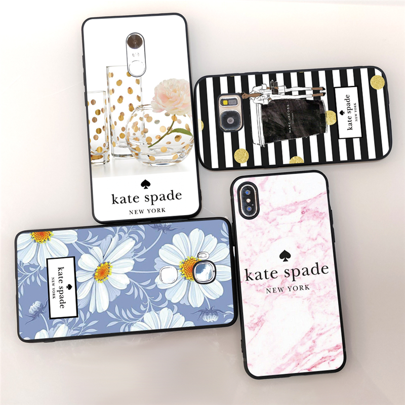 Kate Spade New York silicone soft back cover Phone cases for Apple iphone XR XS MAX X 6 6s 7 8 Plus 5 5S SE slip-on shoe