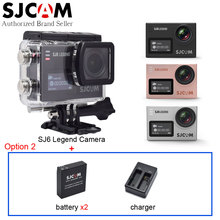 SJCAM SJ6 Legend 4K WiFi Action Video Camera Dual Screen Wireless Remote 2.0 Touch LCD Sport Camcorder DV+Extra Battery+Charger