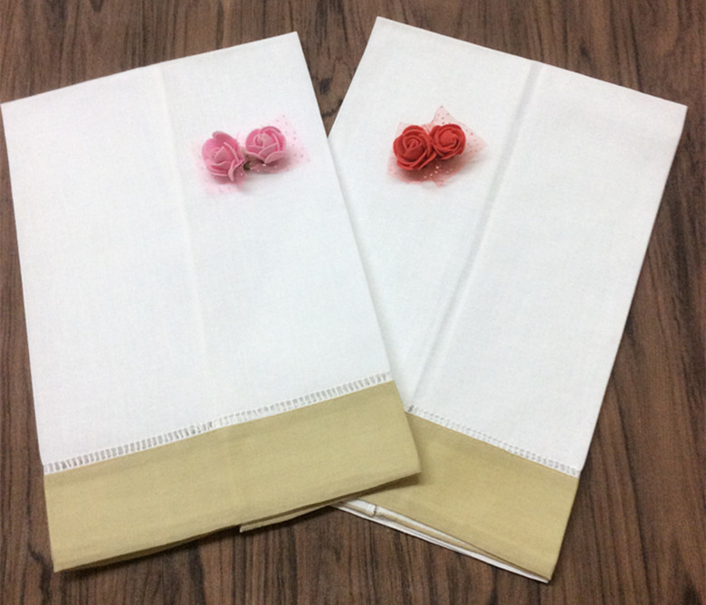 Set Of 12 Home Garden Hand Towels Color Taupe Borde Hemstitched Tea Towel Cleaning Cloth Guest Hand Dish Kitchen Bathroom Towels