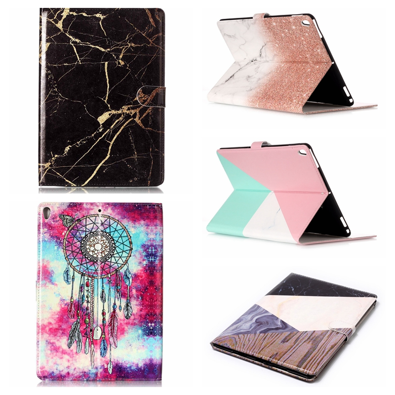Marble Painted Tablet Cases for iPad Pro 10.5 Case PU Leather Smart Cover Holder Auto Sleep/Wake For iPad Pro 10. 5 inch 2017 official original 1 1 case cover for apple ipad pro 12 9 2017 cases tpu smart clear cover for ipad pro ipad plus 12 9 2015 case