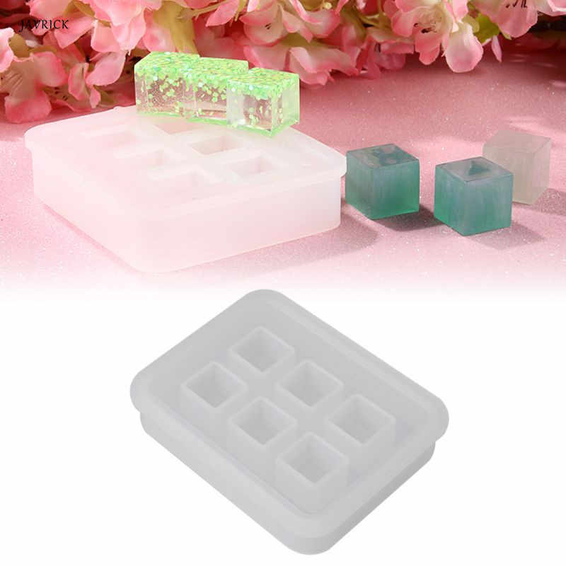 UV Epoxy DIY Craft Resin Mold Jewelry Making Tools Cube Molds Silicone Mould