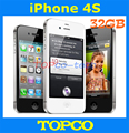 """Iphone 4S завода разблокирована оригинальный 32 ГБ мобильный телефон GSM , WIFI , GPS 3.5 """" 8MP черный и белый inse aled коробка прямая поставка"""