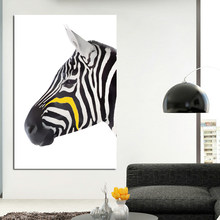 SELFLESSLY Zwart en Wit Zebra Canvas Art Prints Posters Animal Foto Muur Schilderen Home Decoration Voor Woonkamer(China)