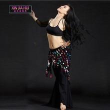Sederhana Triangle Style Sequins Hip Scarf Belly Dance Tarian untuk Dijual Wanita Belly Belly Dance Practicing Sets